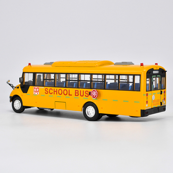 Collectible Alloy Model Gift 1:42 Original Yutong ZK6109DX American School Transit Bus Vehicle DieCast Toy Model For Decoration