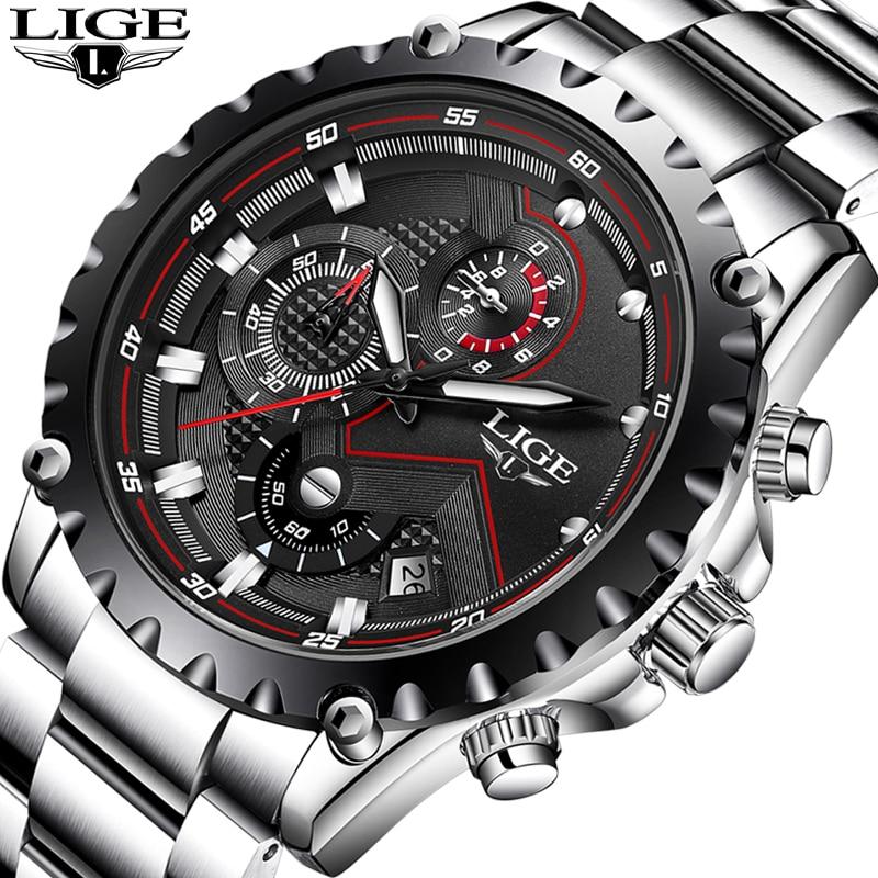 LIGE Montre Hommes Mode Sport Quartz Horloge Hommes Montres Top Marque De Luxe D'affaires Montre Étanche Relogio Masculino relojes 2018