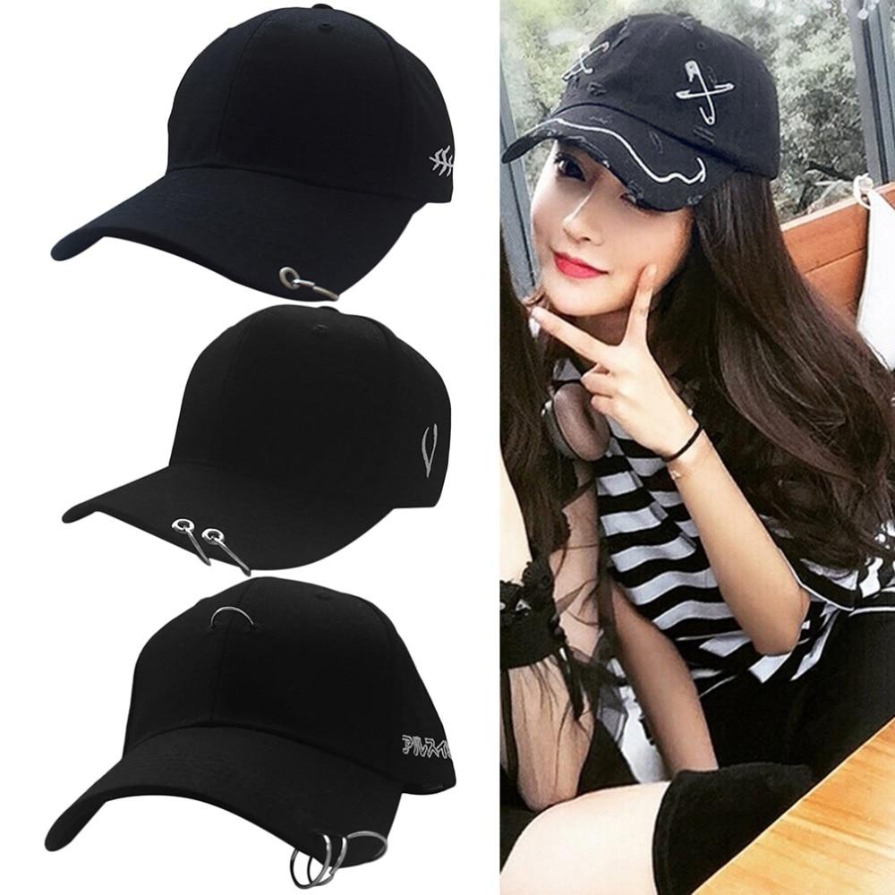 Baseball-Cap Street Unisex Fashion Cotton 8 Hoop-Pin Curved-Hat Hip-Hop Novelty New