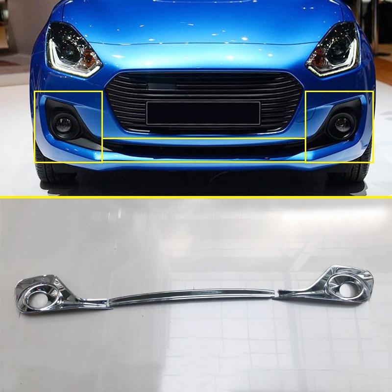 For Hyundai Kona 2018 2019 Chrome Front Fog Light Foglight: For Suzuki Swift Hatchback 2018 2019 Chrome Front Fog
