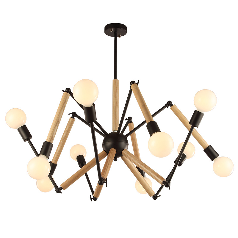 Vintage Nordic Spider Pendant Lamp Multiple Adjustable Retro Pendant Lights Loft Classic Decorative Fixture Lighting Led Home|Pendant Lights| |  - title=