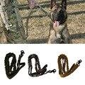 Trela do cão de Nylon 1000D Tático Da Polícia Militar de Treinamento Do Cão Coleiras Para Animais de Estimação Leash Elástica