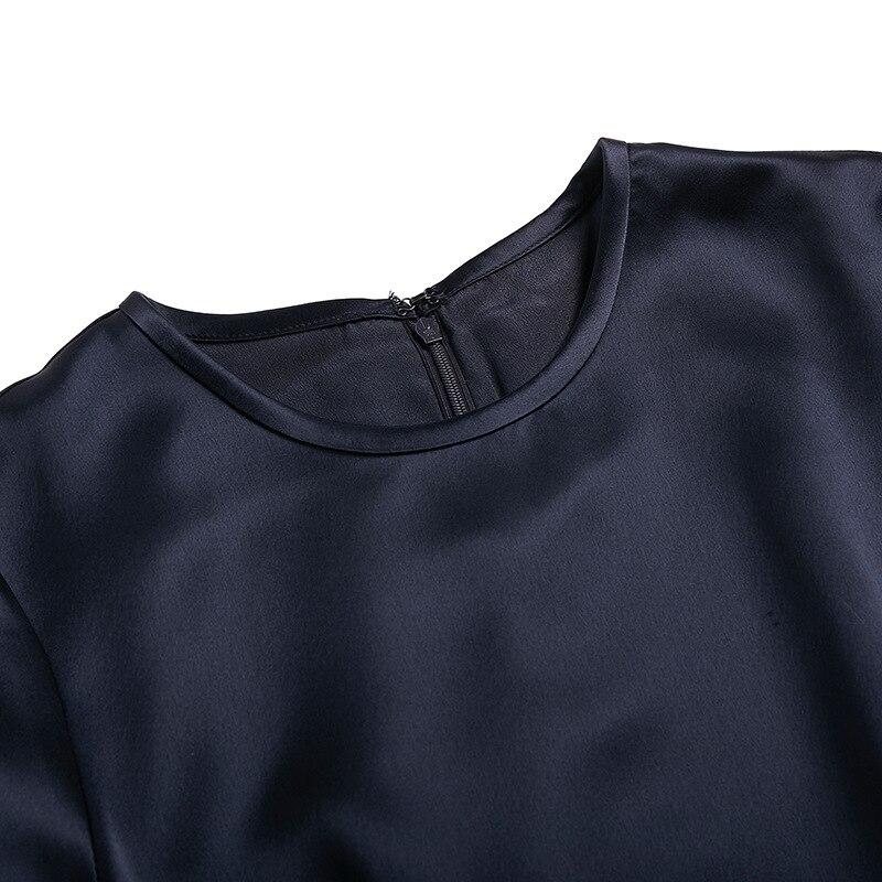 Mini Vintage Hiver Satin À Pour zoux Tous Robes Navy Robe Femme O Match Automne Basant Flare Z cou Blue Les Longues Manches xqA7FwFC