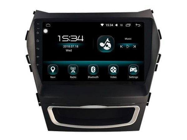 for Hyundai SANTA FE IX45 2013+8core Android 8.0 car gps multimedia 64GB rom+IPS screen+CARPLAY+TDA7851 Amplifer+4 Car Launcher
