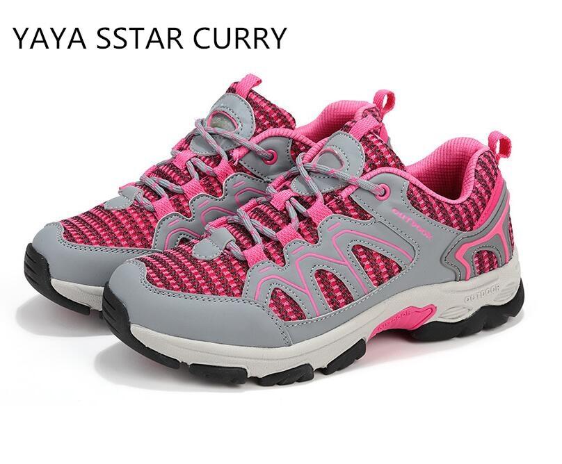 YAYA/звезда Карри 2017 Новый бренд скальные туфли дышащий Открытый Отдых резиновая подошва кожа Открытый скальные туфли