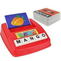 الأطفال بطاقة الإنجليزية الأبجدية رسائل الأبجدية لغز لعبة التعلم اللعب المفردات كلمة الصورة مباراة لعبة ألعاب تعليمية