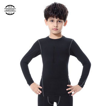 Quick Dry Compression Long Sleeve T Shirt for Kids
