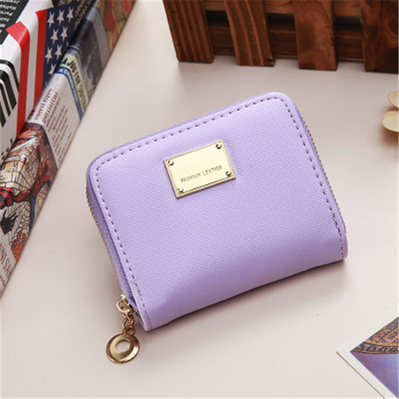 2018 Women Short Wallets PU Leather Female Purses Nubuck Card Holder Wallet Fashion Woman Small Zipper Wallet With Coin Purse