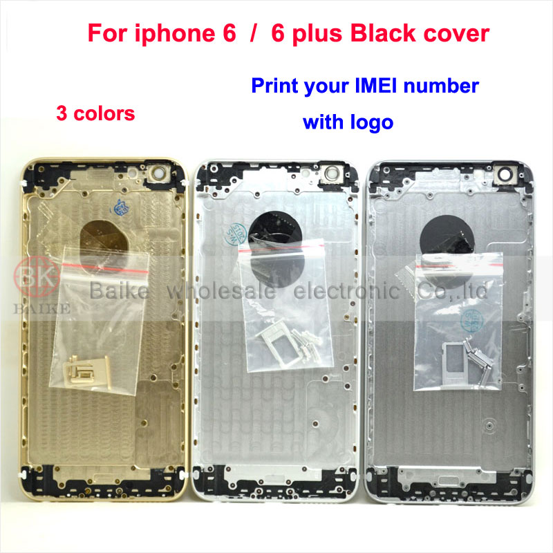 For Apple Iphone 6 plus 5.5 Back Cover Housing for Iphone 6 i6 4.7 Housing + Side Button Sim Card Tray Parts Print IMEI Number