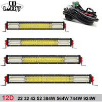 CO LIGHT 4X4 Led Car Light 22 32 42 52 Inch 12D Led Bar 384W 564W 744W 924W Auto Light for Offroad Work Driving Offroad Boat Car