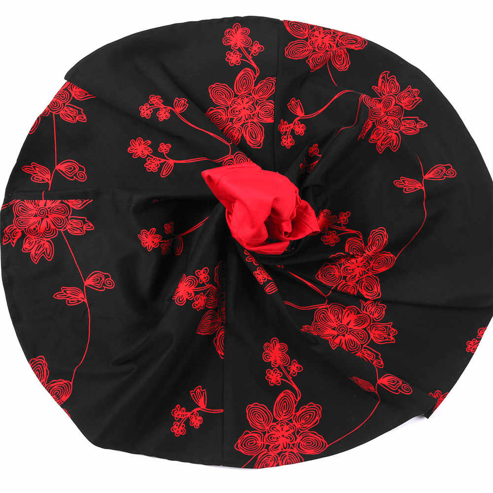 422f08441cad ... Floral Flowers Print Dress Girls Summer Clothes Red with Black Short  Sleeve Kids Girls Cotton Dresses
