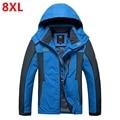 Primavera y otoño fina ropa de hombre chaqueta de Gran tamaño grasa suelta chaqueta de alpinismo monocapa 8XL 7XL 6XL 5XL 4XL
