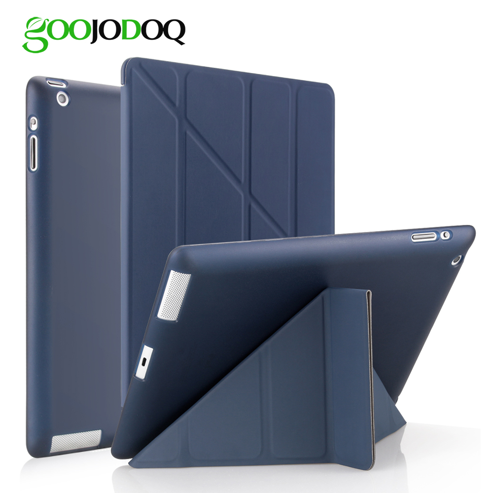 For iPad 2 3 4 Case for iPad Mini 4 3 2 1 Case with Silicone Soft Back Multi-fold PU Leather Smart Cover for iPad Mini 4 Case scolour hot soft gel tpu skin silicone back case cover silk slim clear transparent smart back cover for ipad mini 1 2 3 retina