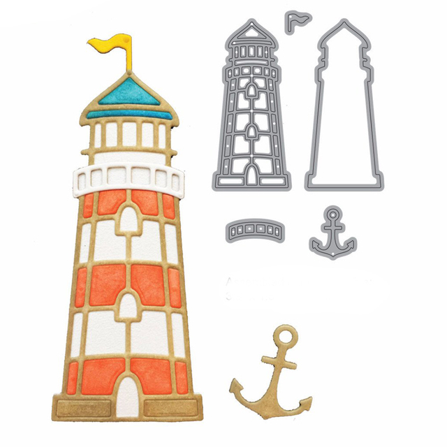 lighthouse Metal Cutting Dies Scrapbooking Paper Craft Dies cuts ...
