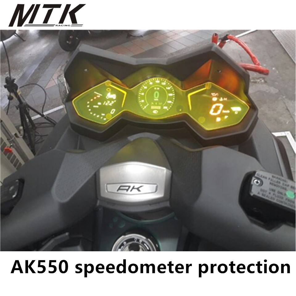 MTKRACING Motorcycle For KYMCO AK550 2017-2018 Cluster Scratch Speedometer Film Screen Protection Protector mtkracing for kymco ak550 motorcycle parts headlight protector cover screen lens ak 550 2017 2018