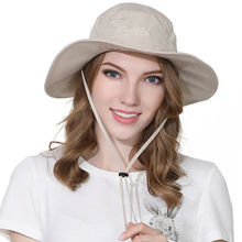 2019 New Bucket Hat Spring And Summer Fisherman For Men and Women Polyester Quick-drying Wide-brim Sunshade