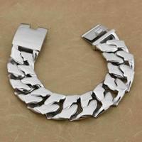 LINSION 7 Length Heavy & Huge 316L Stainless Steel Mens Biker Rocker Punk Bracelet 5F002 Free Shipping