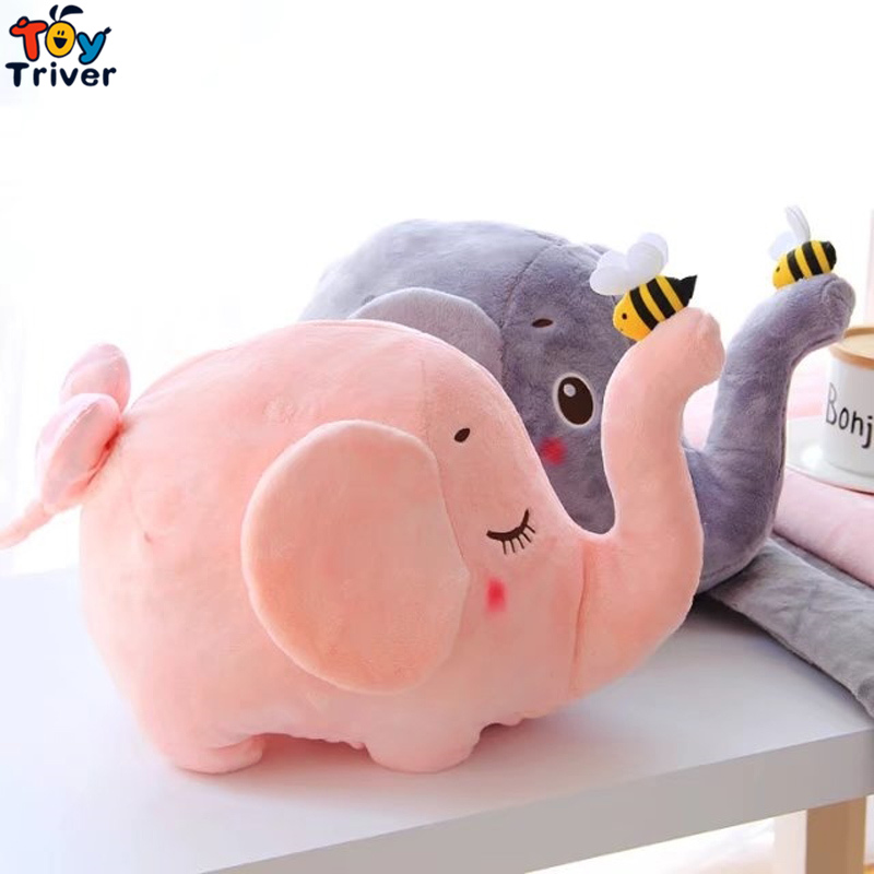 Plush Elephant Bee Portable Blanket Stuffed <font><b>Toy</b></font> Doll Baby Shower Car Air Condition Travel Rug Office Nap Carpet Birthday Gift