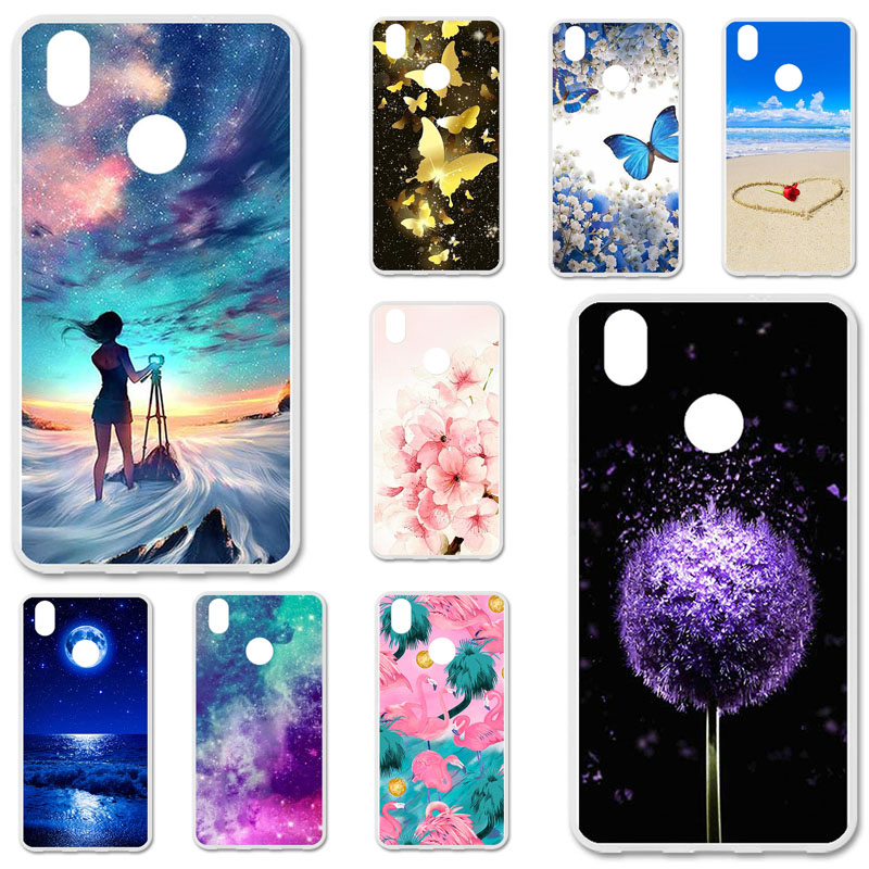 TPU Cases For TP-Link Neffos C7 Case Silicone Floral Painted Bumper For TP-Link Neffos Y7 5.5 inch Phone Cover Soft Back Fundas