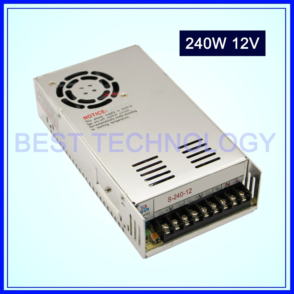 DC Switch Power Supply 240W 12V switching power supply Single Output!! For CNC Router Foaming Mill Cut Laser Engraver Plasma!!