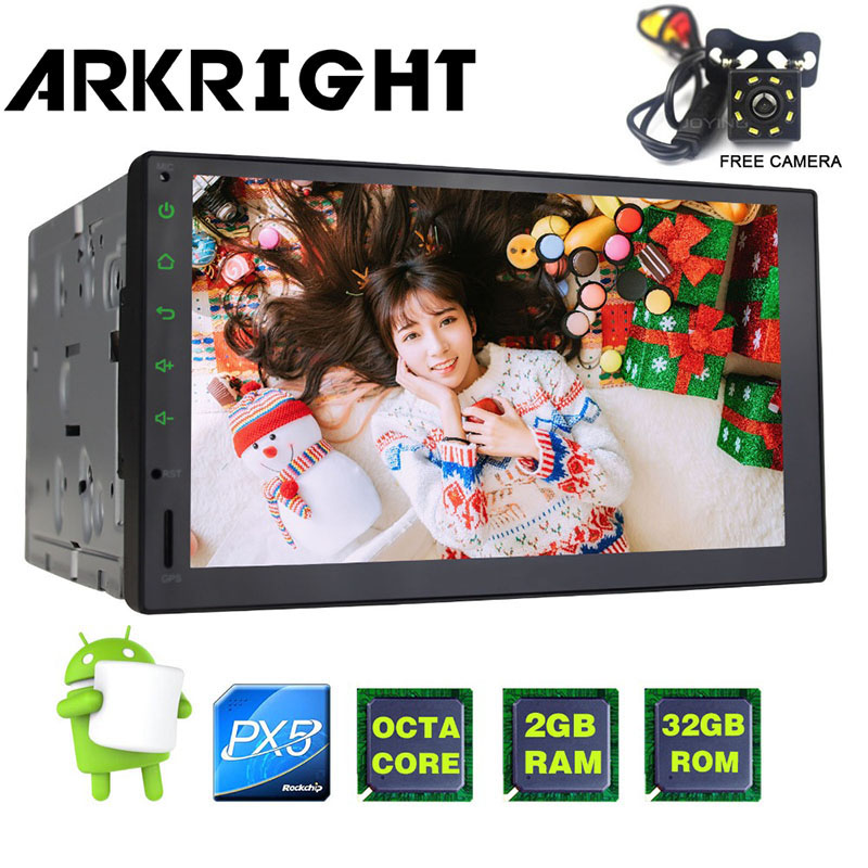 Hot Sale ARKRIGHT 7 PX5 Octa Core Universal Car Radio Audio Stereo HD GPS 2GB+32GB Carpl ...