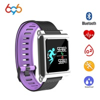 696 K8 Smart Bracelet Wristbands IOS Android Message Call Social App Reminder Sleep Health Tracker Monitor Camera Remote Watch