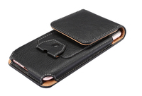 Vertical Man Outdoor Belt Clip Synthetic Leather Mobile Phone Case Card Pouch For LG X Venture
