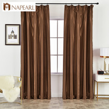 NAPEARL 1 Piece Satin Faux Modern Style Curtains All Match S