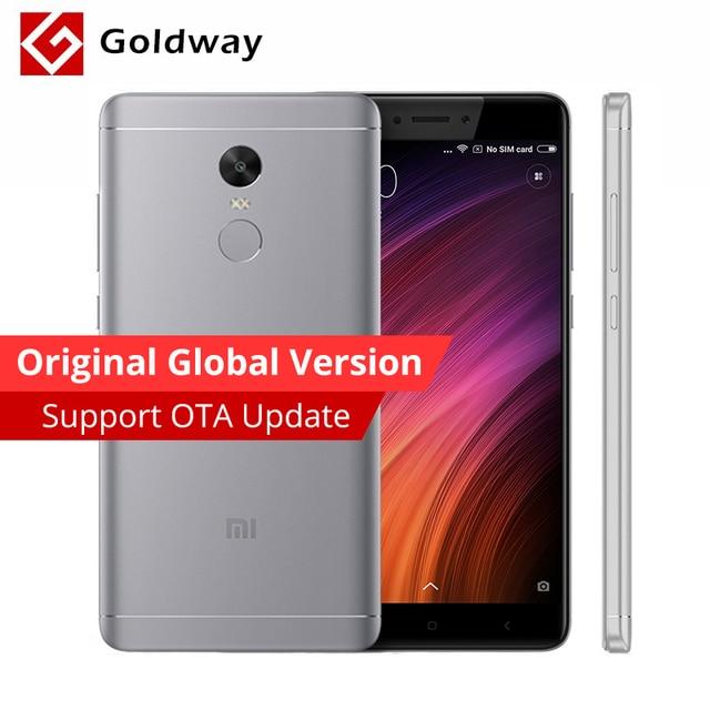 """Глобальная версия Оригинальный Xiaomi Redmi Note 4 Qualcomm 4 ГБ ОЗУ 64 ГБ ROM мобильный телефон Snapdragon 625 Octa core 5.5 """"FHD FCC CE 13MP"""