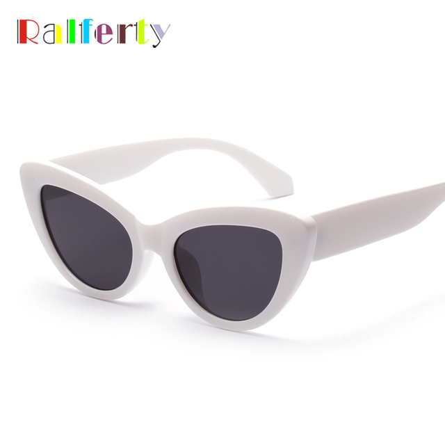 39df2c55c03c2 Ralferty 2018 Retro Cat Eye Sunglasses Women Blue Mirrored Acetate Sun  Glasses UV400 Vintage Sunnies Female Shades W813037