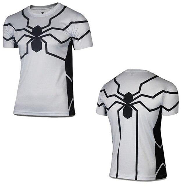 3c15b6d01 New Men's T shirt Punisher/Superman/Captain America/Green Lantern/Black  Adam/X man/Hulk Print Cosplay Fitness Bodybuilding Shirt