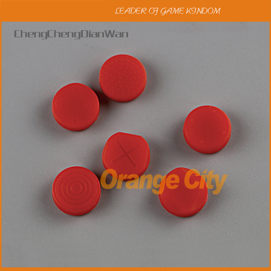 ChengChengDianWan Silicone Grip Analog Joystick Cap Cover For <font><b>Sony</b></font> <font><b>PS</b></font> <font><b>Vita</b></font> PSV <font><b>Console</b></font> 1000 2000 Buttons 1set=6pcs image