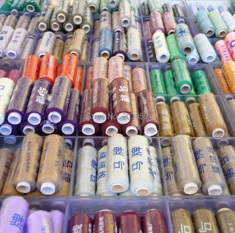 Polyester Sewing Thread,About 200M Per Spool,50 Different Colours(Spools) /Set, Free Shipping,Also For Hand Sewing,Good Quality