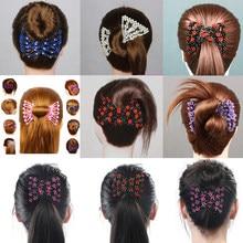 Peine de pelo profesional para mujer, cuentas mágicas, elasticidad, doble cuenta, abrazadera elástica, accesorios para el Día de San Valentín, envío directo