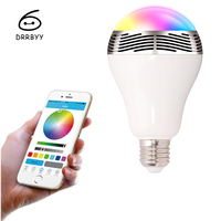 DRRBYY BLO5 Smart LED Light With Phone APP Control Colorful Music Wireless Bluetooth Speaker Audio For