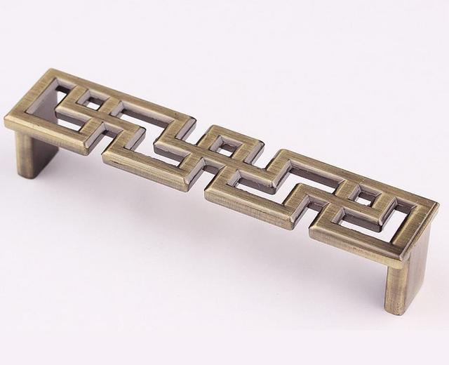 Estilo chino Dresser perillas bronce antiguo/Cobre cajón manijas ...