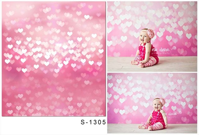 Baby Shower Backdrop Bokeh Fabric Cloth Pink Photography Backdrop For  Newborn Photo Studio Portrait Backgrounds S