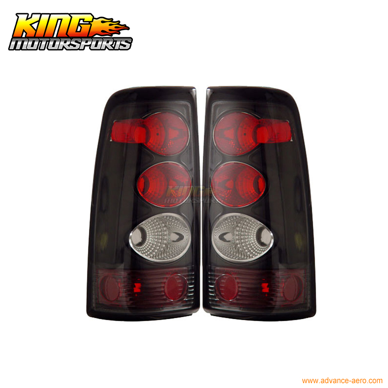 for 2005 2007 06 chrysler 300 300c led tail lights black lamps usa domestic free shipping For 03-06 Chevy Silverado Tail Lights Black Lamps 04 05 USA Domestic Free Shipping
