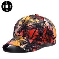 PLZ Fashion Hawaii COCO Tree Visors Sun Hats 3D Print Baseball Cap Cotton Summer Men Women
