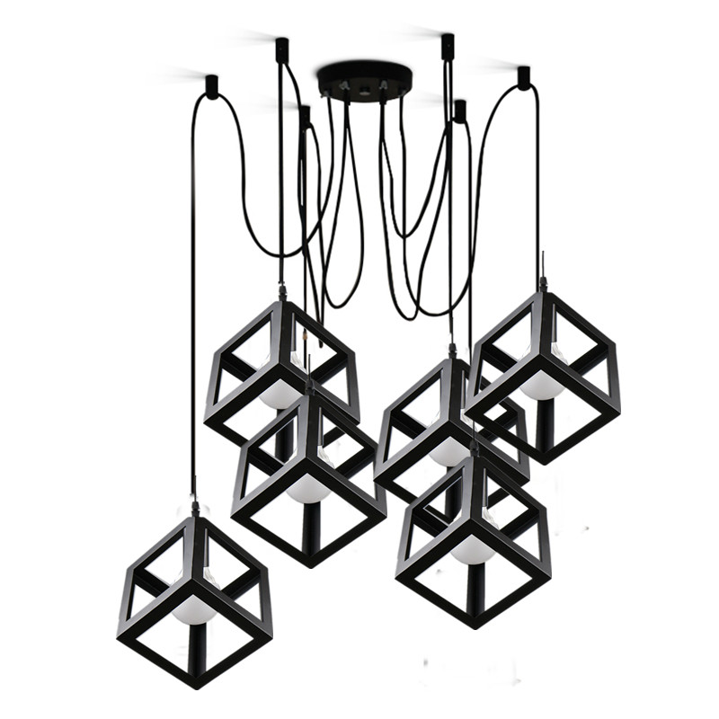 Vintage retro pendant lights LED lamp  metal cube cage lampshade lighting hanging light fixture with LED G80 bulb vilaxh for epson p600 chip resetter for epson surecolor sc p600 printer t7601 t7609 cartridge resetter