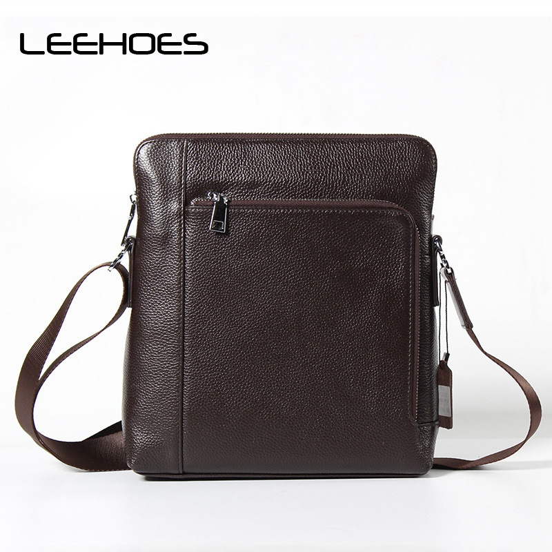 Designers Brand Men's Messenger Bags Genuine Leather Vintage Men Shoulder Bag Crossbody Bag Small Sacoche Homme Satchels Bolsos