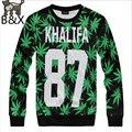 2016 autumn new 3D sweatshirt for men/boy printed hemp fimble leaf weed sweatshirts fashion casual pullover hoodies
