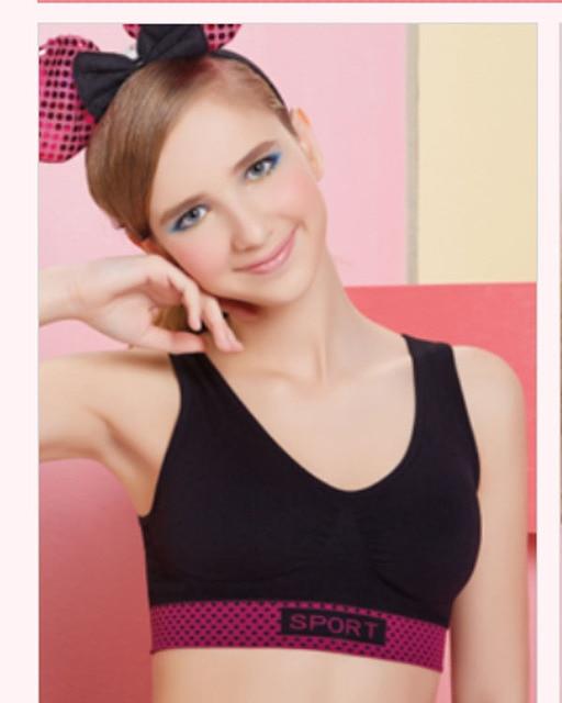 Cute Girl Bra Series Charming Mug No Rims Seamless Sports -3844
