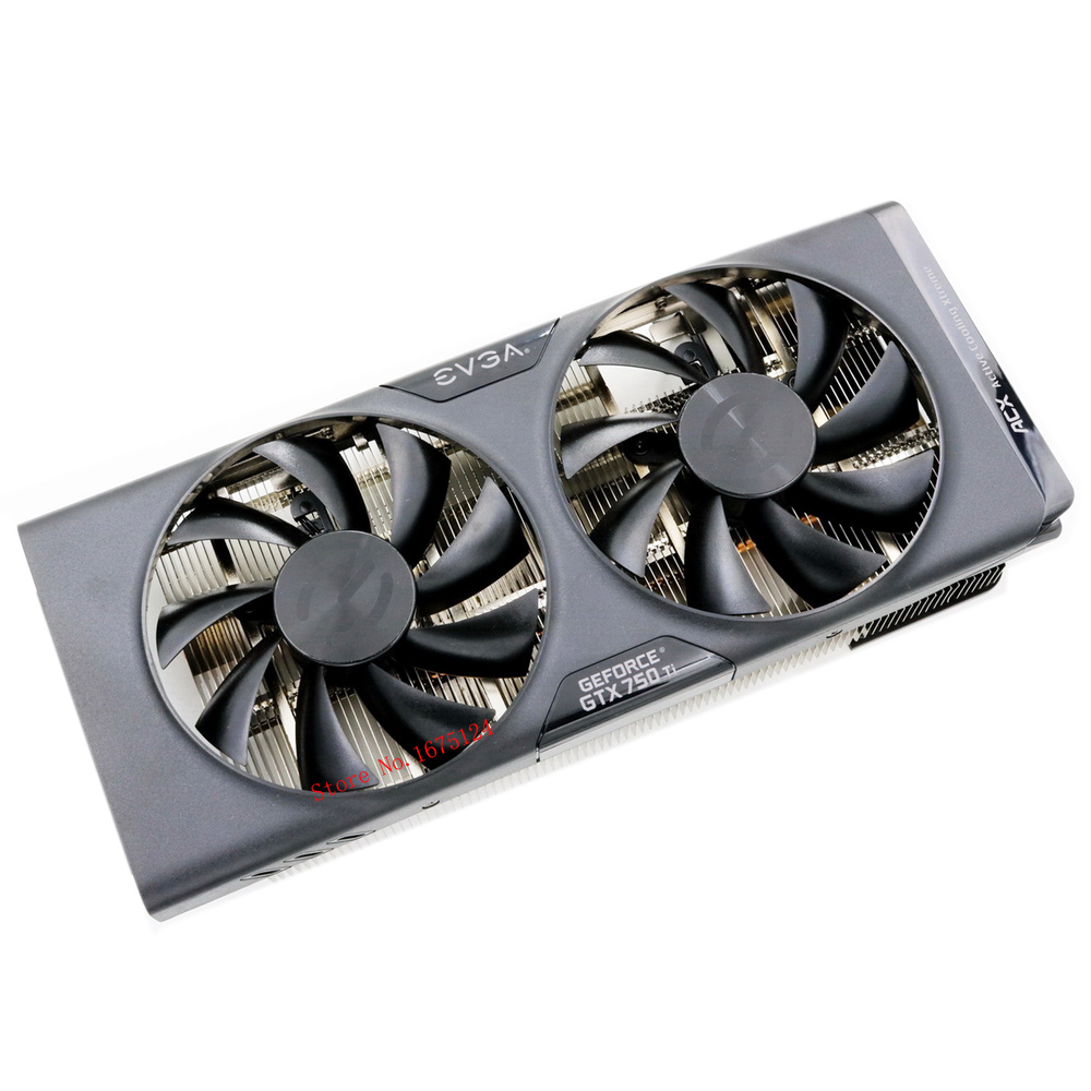 computer radiator with heatsink heatpipe cooling fan for EVGA GTX750Ti GTX 750Ti grahics card VGA cooler system