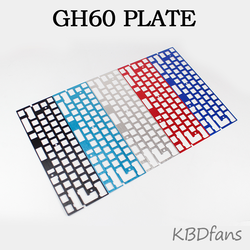 Mechanical keyboard cnc 60 anode aluminum drawing concurrence positioning plate  support ISO ANSI for GH60 pcb 60%keyboard DIY игрушки для ванны умка заводная игрушка