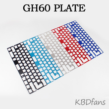 Mechanical keyboard cnc 60 anode aluminum drawing concurrence positioning plate  support ISO ANSI for GH60 pcb 60%keyboard DIY