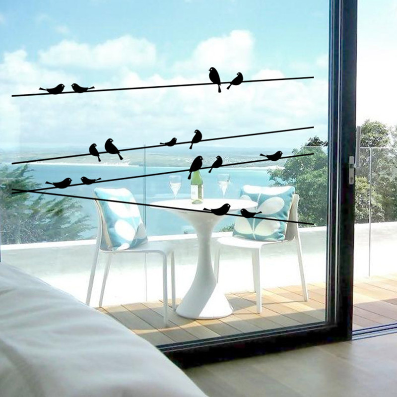 Free shipping home decoration wall art window glass stickers on the ...