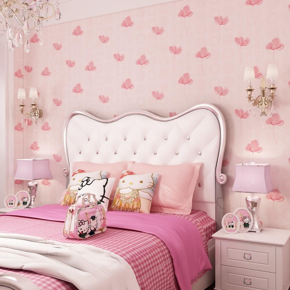bedroom pink wallpapers princess korean wall 3d murals zoom