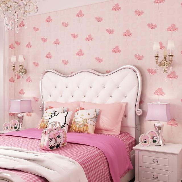 Kids Room Wallpapers Girls Bedroom Nonwovens Warm Korean