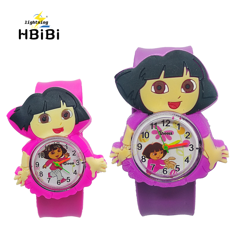 2019 Trendy Cartoon Kids Watches Girls Princess Dial Children Quartz Watch Sport Bendable Rubber Strap Wristwatch Montre Enfant
